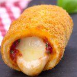 Mozzarella Sticks mit Tomaten Füllung - ein Gedicht von einem Fingerfood Rezept!