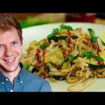 Gebratene Nudeln mit Shiitake Pilzen 😍 Asiatisches Rezept