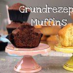 Einfaches Rezept für leckere Muffins | Schokomuffins & Vanillemuffins | Hell & Dunkel