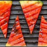 Gegrillte Wassermelone  mit Lachs auf dem Grill zubereiten - BBQ Rezept mal anders