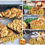 Türkische Teigtaschen POGACA mit 3 mega leckeren Füllungen: Schafskäse, Hackfleisch und Kartoffeln