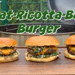 Spinat Ricotta Bacon Burger